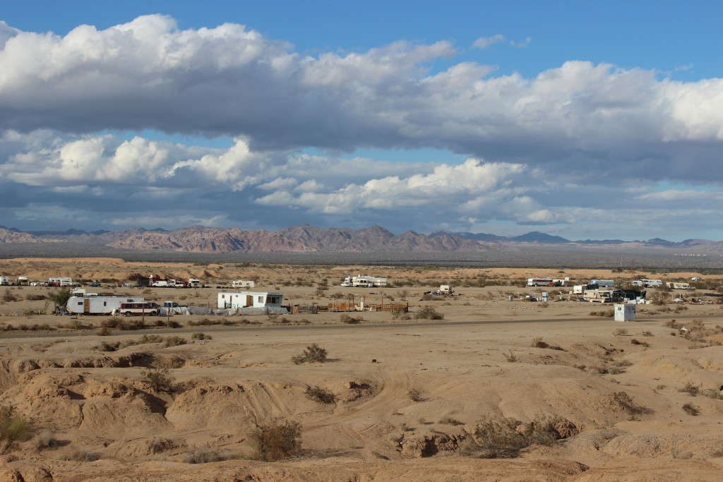 Overlooking slab city.