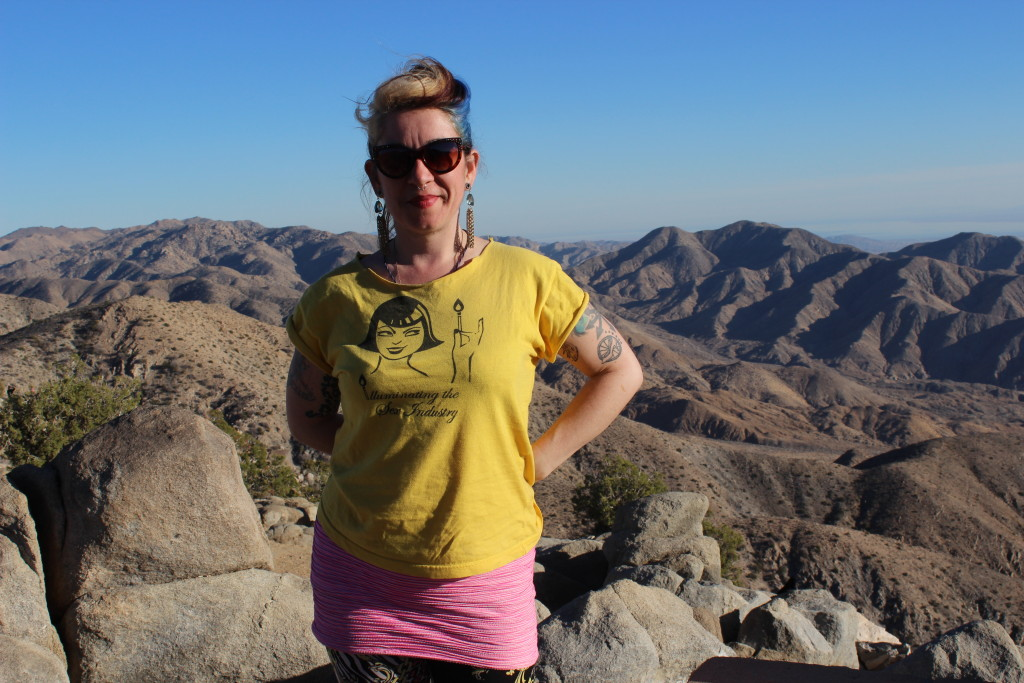 Overlooking a view in Joshua Tree National Park.