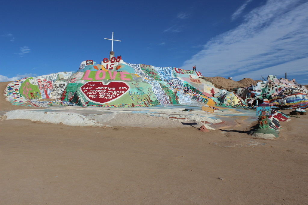 Salvation mountain itself.